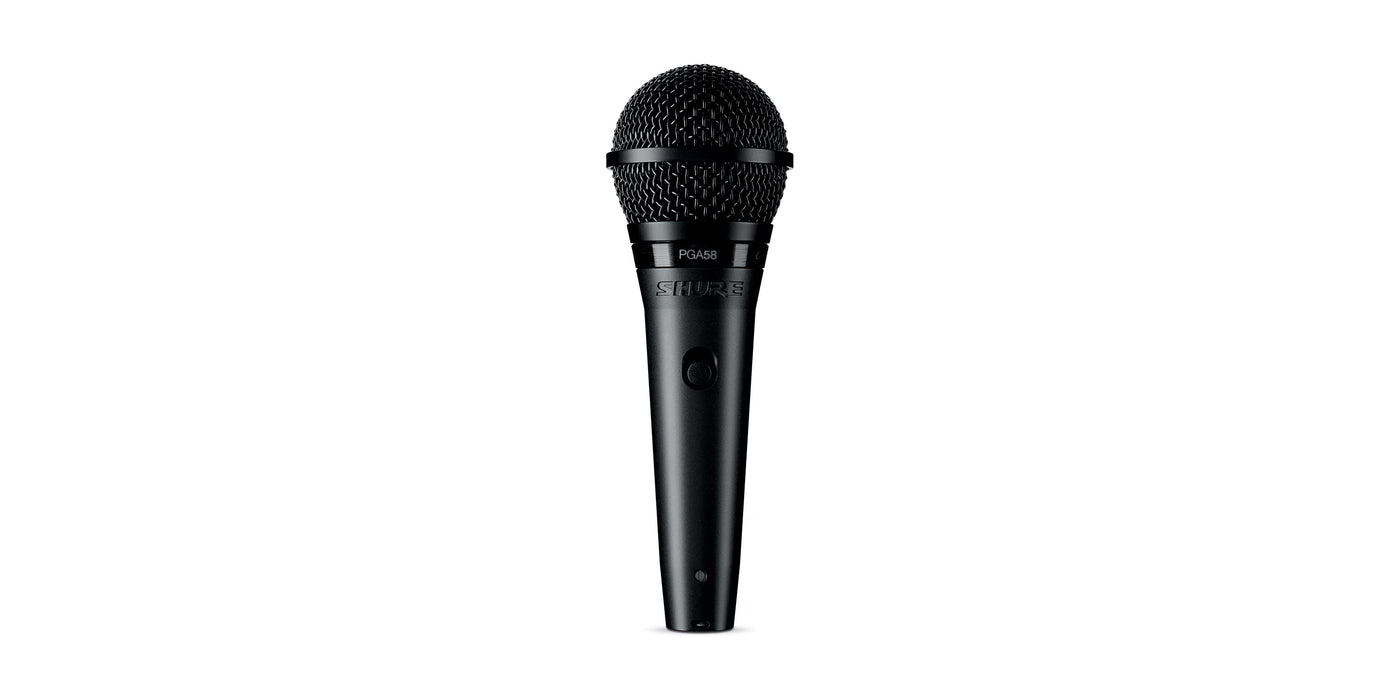 Shure PGA58 Cardioid Dynamic Vocal Microphone - Rock and Soul DJ Equipment and Records