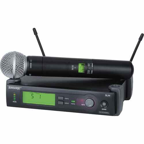 Shure SLX24/SM58 Wireless Handheld Microphone System with SM58 Capsule (H5: 518 to 542 MHz) - Rock and Soul DJ Equipment and Records