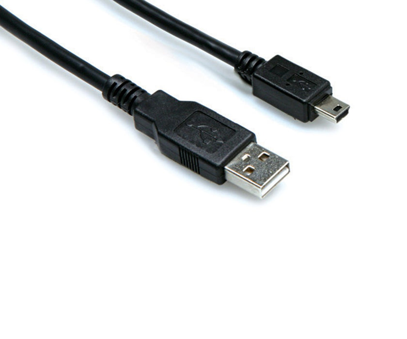 Hosa High Speed USB Cable, Type A to Mini B, 6 ft