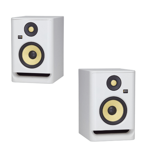 KRK RP5 ROKIT G4 Professional Monitor - Limited White (Pair) - Rock and Soul DJ Equipment and Records
