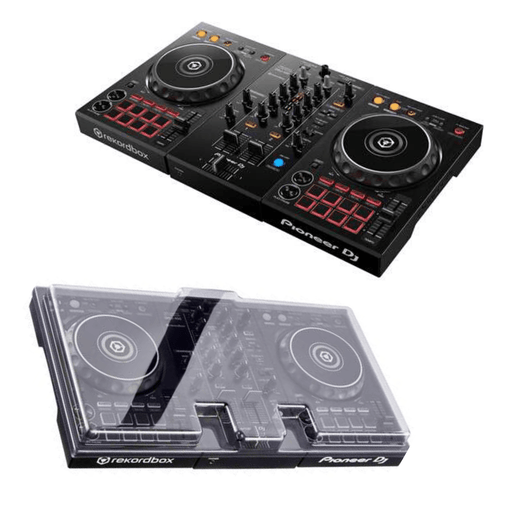 Pioneer DJ DDJ-400 for rekordbox DJ (Black) + Decksaver Dust Cover - Rock and Soul DJ Equipment and Records