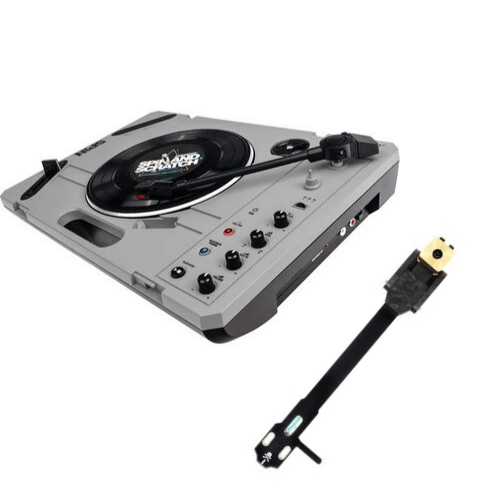 Reloop SPiN Portable Turntable System + JDD-SPCB TONE ARM Kit Bundle