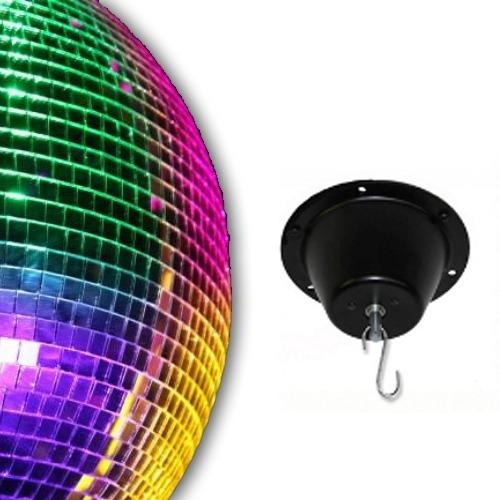 "ProX 24 inch Mirror Ball (tile size 0.75"") + 1 RPM Motor - Rock and Soul DJ Equipment and Records"