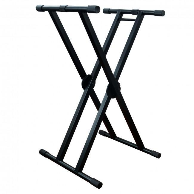ProX - Double X-STYLE DJ Coffin Keyboard Stand w/ Ergo Easy Lock - Rock and Soul DJ Equipment and Records