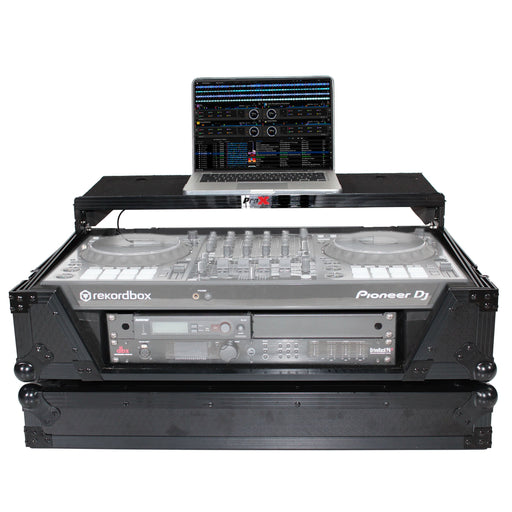 ProX XS-SX1K2UWLTBL LED Flight Case for Pioneer DDJSX3 DDJ1000 SRT