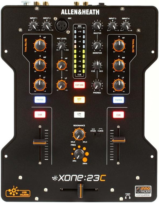 Allen & Heath XONE:23C DJ Mixer Plus Internal Soundcard (Open Box) - Rock and Soul DJ Equipment and Records