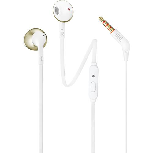 JBL T205 Earbud Headphones (Champagne Gold) - Rock and Soul DJ Equipment and Records