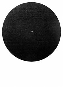 Glowtronics Non-Glow 7inch / 45 Record Slipmats - Black Out