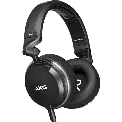 AKG K182 Professional Closed-Back Monitor Headphones - Rock and Soul DJ Equipment and Records