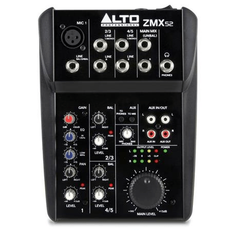 Alto Professional ZEPHYR ZMX52 5-Channel Compact Audio Mixer - Rock and Soul DJ Equipment and Records