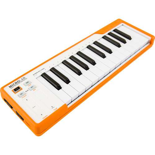 Arturia MicroLab - Compact USB-MIDI Controller (Orange) - Rock and Soul DJ Equipment and Records