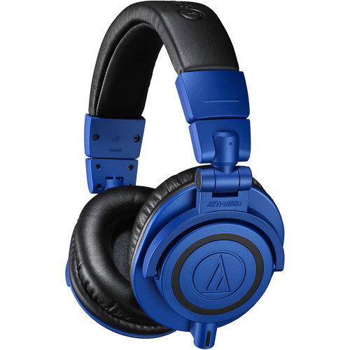 Audio-Technica ATH-M50x Monitor Headphones Blue/Black (Open Box) - Rock and Soul DJ Equipment and Records