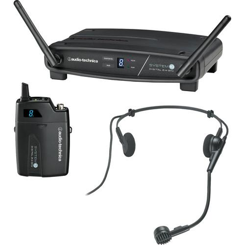 Audio-Technica ATW-1101/H System 10 Digital Wireless Headworn Dynamic Microphone Set - Rock and Soul DJ Equipment and Records