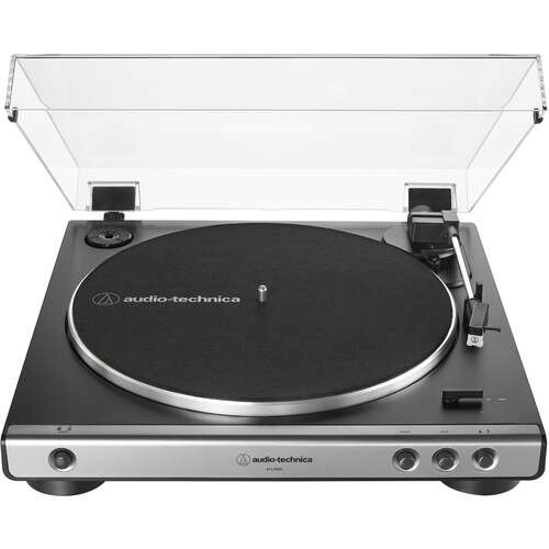 Audio-Technica Consumer AT-LP60X Stereo Turntable (Gunmetal & Black)