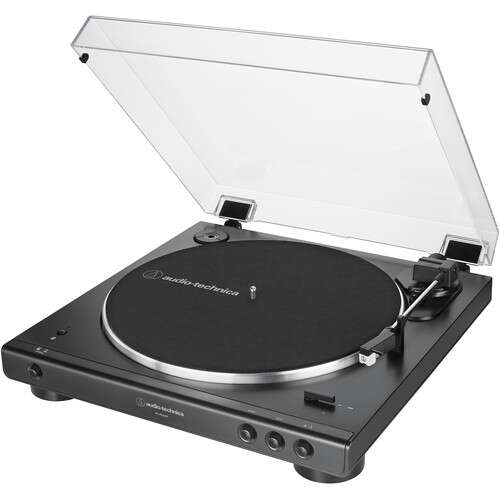 Audio-Technica Consumer AT-LP60XBT Stereo Turntable with Bluetooth (Black) - Rock and Soul DJ Equipment and Records