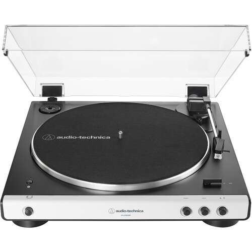 Audio-Technica Consumer AT-LP60XBT Stereo Turntable with Bluetooth (White & Black) - Rock and Soul DJ Equipment and Records