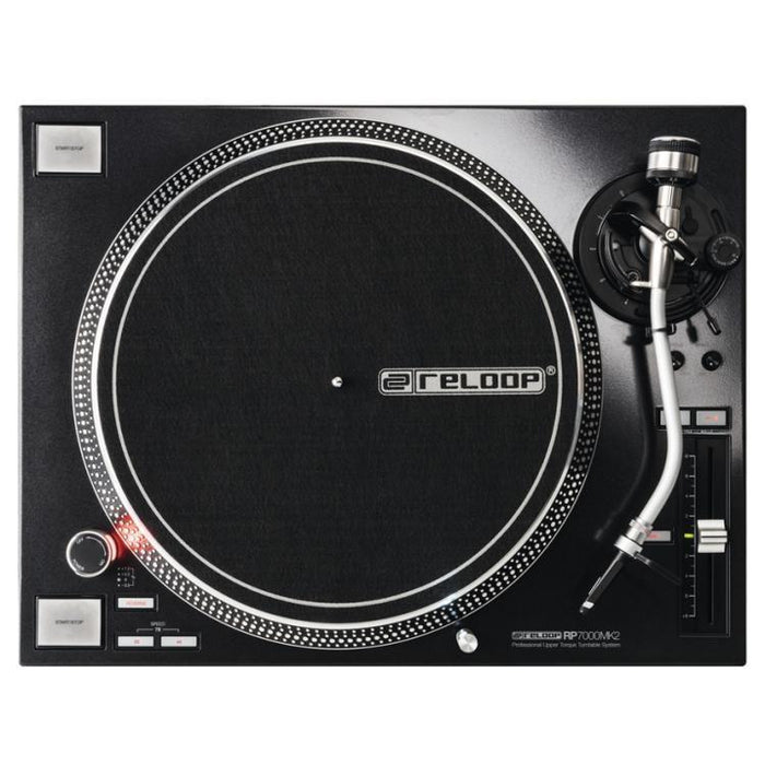 Reloop RP-7000 MK2 Direct Drive Turntable - Black (Open Box) - Rock and Soul DJ Equipment and Records