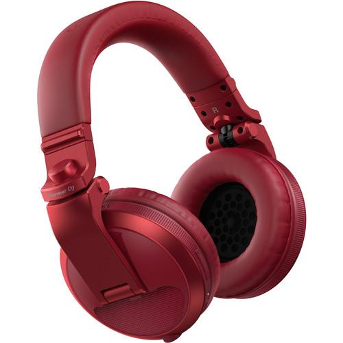 Pioneer DJ HDJ-X5BT Bluetooth Over-Ear DJ Headphones (Metallic Red) - Rock and Soul DJ Equipment and Records