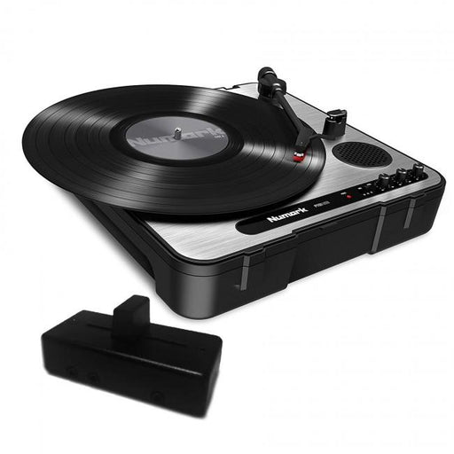 Numark PT01 USB Portable Turntable with Jesse Dean JDDX2R Fader in Darkness Black - Rock and Soul DJ Equipment and Records