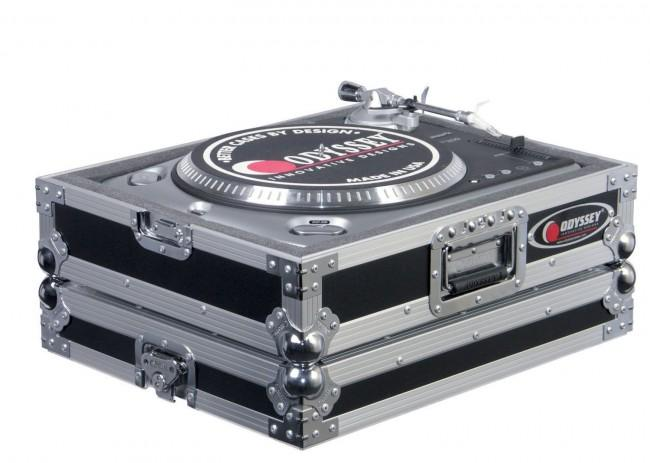 Odyssey FTTXBLK DJ Turntable Case- Black - Rock and Soul DJ Equipment and Records