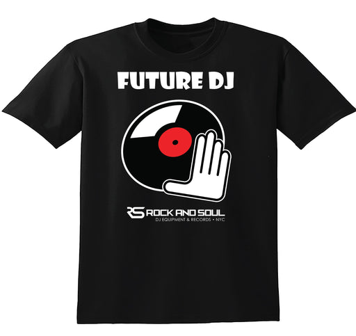 """Future DJ"" T-shirt for Kids (Black) - Rock and Soul DJ Equipment and Records"