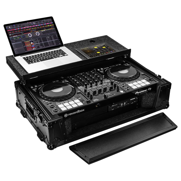Odyssey DDJ-1000/1000SRT Black Label Case W/ Patented Glide Platform and Bottom 2U Rack Space - Rock and Soul DJ Equipment and Records