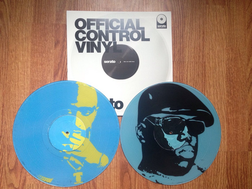 Rock and Soul EAST vs WEST Big vs Pac Custom Serato Control Vinyl (Pair) - Rock and Soul DJ Equipment and Records