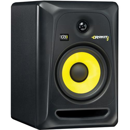 KRK Rokit 6 G3 Active Studio Monitor (Black) (Pair) + Two 3 ft. XLR Cables (Open Box) - Rock and Soul DJ Equipment and Records