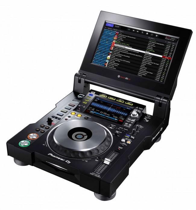 "Pioneer CDJ Touring Model with Folding 13"" Touchscreen and Display Shade on Rock and Soul"