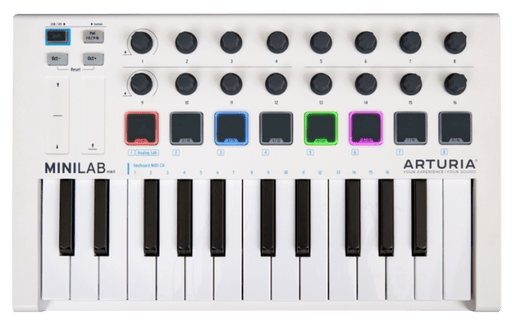 Arturia MiniLab Mk II - Portable USB-MIDI Controller - Rock and Soul DJ Equipment and Records