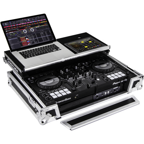 "Odyssey Innovative Designs Pioneer DDJ-800 DJ Controller Glide Style Case with 1U 19"" Bottom Rack"