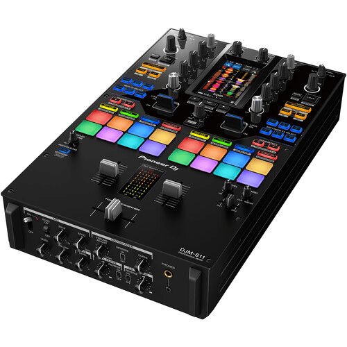 Pioneer DJ DJM-S11 Professional 2-Channel Battle Mixer for Serato DJ Pro / rekordbox (Black) - Rock and Soul DJ Equipment and Records