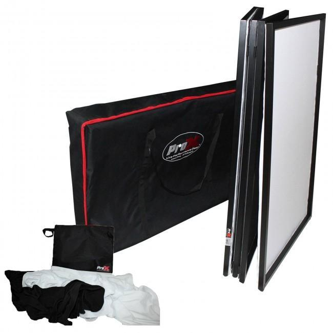 ProX XF-4X3048B Black Aluminum 4 Panel Scrim Facade Package - Rock and Soul DJ Equipment and Records