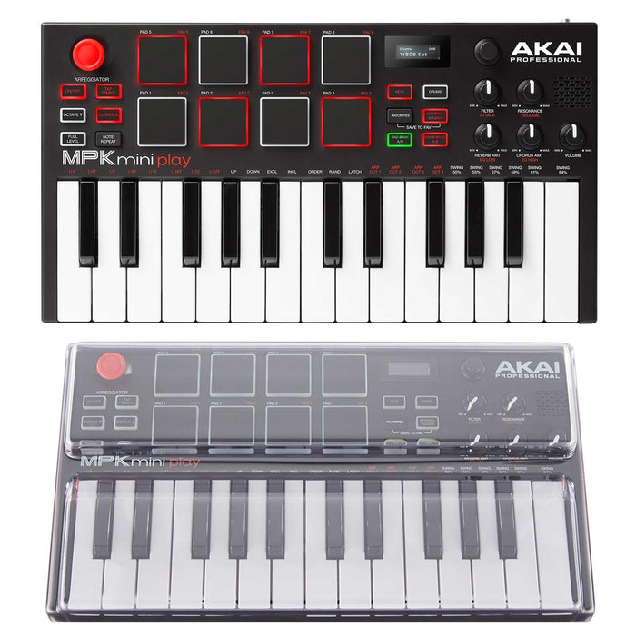 Akai Professional MPK Mini Play + Decksaver - Rock and Soul DJ Equipment and Records