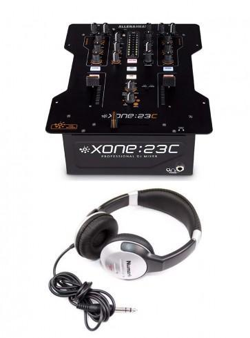 Allen & Heath XONE:23C DJ Mixer Plus Internal Soundcard with Bonus Numark Professional DJ Headphones