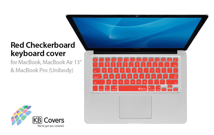 KB Covers Red Checkerboard Keyboard Cover for Mac - Rock and Soul DJ Equipment and Records