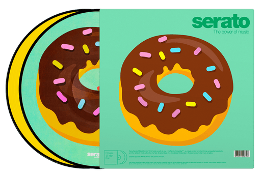 Serato Control Vinyl - Heart and Donut Emoji (Pair) - Rock and Soul DJ Equipment and Records