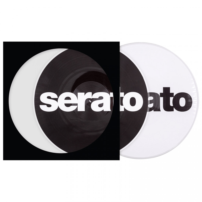 Serato 2x 12-inch Reversible Logo Vinyl - Black on White & White on Black - Rock and Soul DJ Equipment and Records