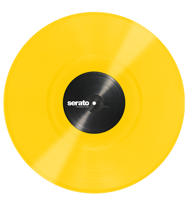 Serato Performance Series Official Control Vinyl 2xLP in Yellow - Rock and Soul DJ Equipment and Records