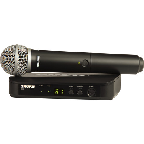 Shure BLX24/PG58 Wireless Handheld Microphone System with PG58 Capsule - Rock and Soul DJ Equipment and Records