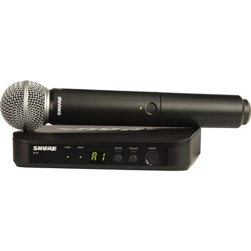 Shure BLX24/SM58 Wireless Handheld Microphone System with SM58 Capsule