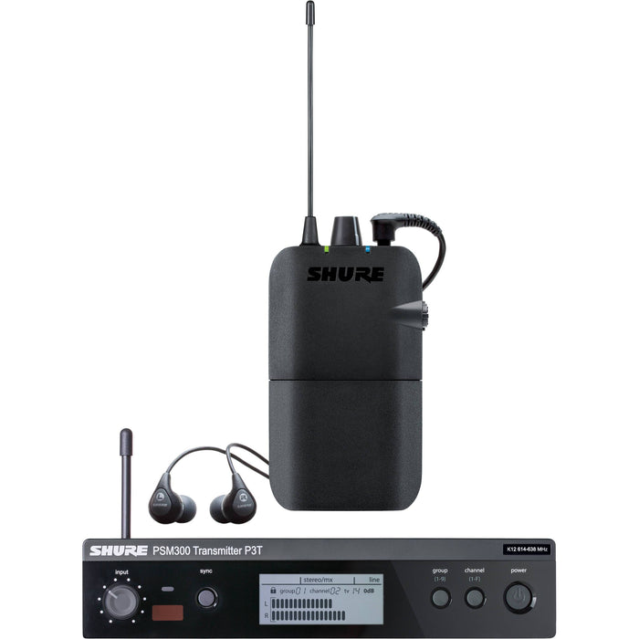 Shure PSM300 Stereo Personal Monitor System w/ SE112 Earphones - Rock and Soul DJ Equipment and Records