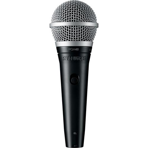 "Shure PGA48 Dynamic Vocal Microphone (XLR to 1/4"" Cable)"