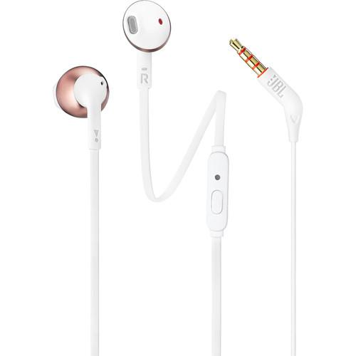 JBL T205 Earbud Headphones (Rose Gold)