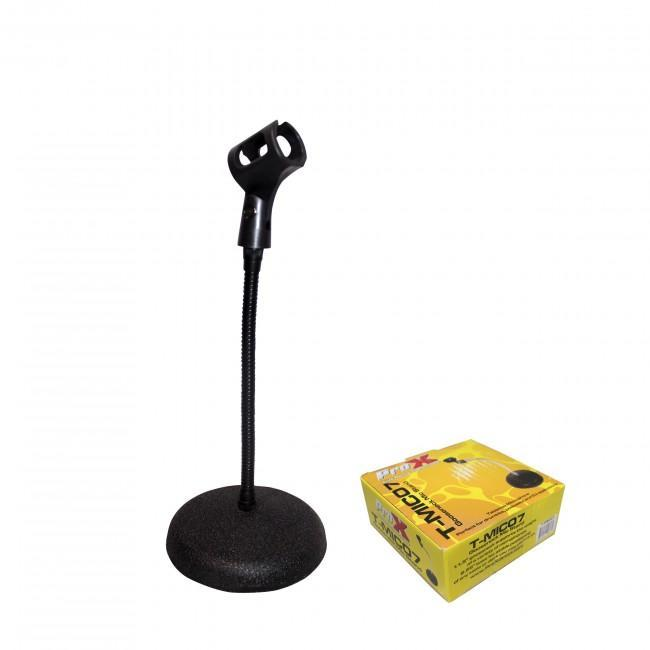 ProX Mic Stand Desktop Round Base w Gooseneck - Rock and Soul DJ Equipment and Records