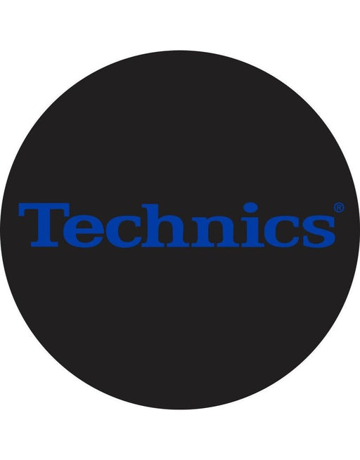 Technics Classic Logo in Electric Blue Slipmats (Pair)