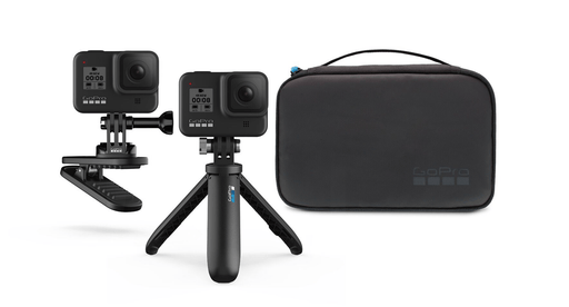 GoPro Travel Kit Includes Magnetic Swivel Clip, Shorty, and Compact Case - Rock and Soul DJ Equipment and Records