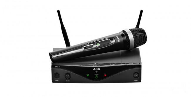 AKG WMS420 UHF Wireless Vocal Set (Band A: 530.025 to 559.00 MHz) - Rock and Soul DJ Equipment and Records
