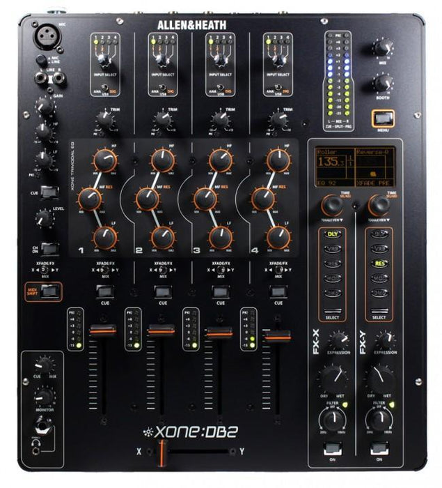 Allen & Heath Xone:DB2 Professional DJ FX Mixer - Rock and Soul DJ Equipment and Records