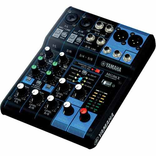 Yamaha MG06X 6-Input Compact Stereo Mixer (Display Model) - Rock and Soul DJ Equipment and Records